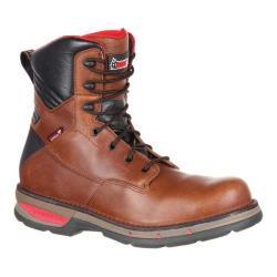 Men's Rocky 8in Field Lite Composite Toe WP Work Boot RKK0228 Brown Full Grain Leather