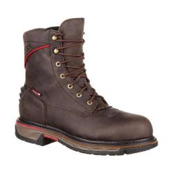 Men's Rocky 8in Iron Skull CT WP Western Boot RKW0204 Dark Brown Full Grain Leather