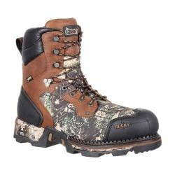Men's Rocky 8in Maxx 800g Insulated Waterproof Boot RKS0321 Brown Camo Full Grain Leather