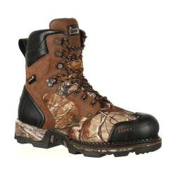 Men's Rocky 8in Maxx 800g Insulated Waterproof Boot RKS0322 Brown Camo Full Grain Leather