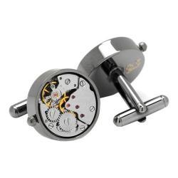 Men's Ox & Bull Trading Co. Gunmetal Watch Movement Cufflinks Gunmetal