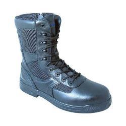 S Fellas by Genuine Grip 5080 Slip-Resistant Skyknight Work Boot Black Leather