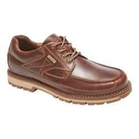 Men's Rockport Centry Moc Toe Oxford Brown Leather