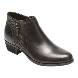 Women's Rockport Cobb Hill Oliana Bootie Black Pull Up Leather