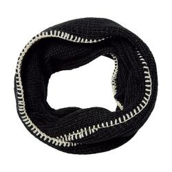 Women's San Diego Hat Company Knit Infinity Scarf with Whip Stitch BSS3452 Black - Thumbnail 0