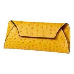Women's CLAVA Jemma Faux Ostrich Wallet Yellow