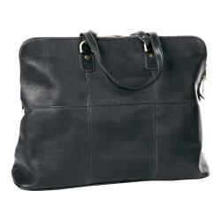 CLAVA Leather Aviator Travel Tote Black