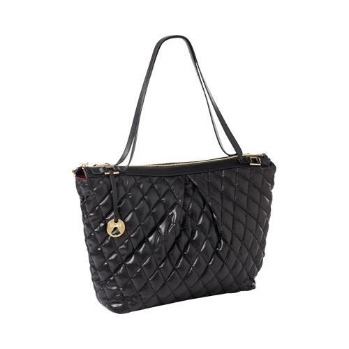 ee0c50e63b54 Women's CLAVA Three Quilted Commuter Tote Black Quilted Nylon