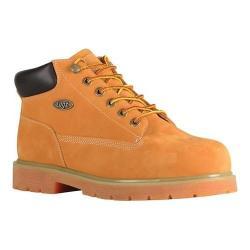 Men's Lugz Drifter Mid Steel Toe Work Boot Golden Wheat/Bark/Tan/Gum Synthetic