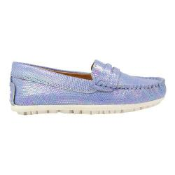 Girls' Umi Meesa II Moccasin Light Blue Leather