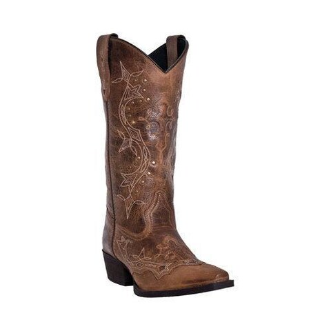 Women's Laredo Cross Point 52033 Burnt Rust Leather