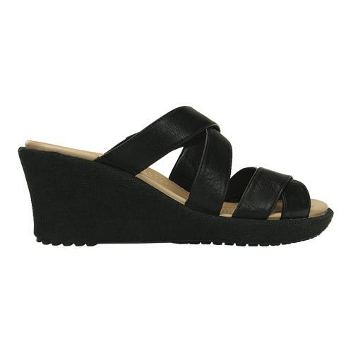 5bca292e64c5 ... Thumbnail Women  x27 s Crocs A-leigh Crisscross Wedge Sandal Black Black  ...