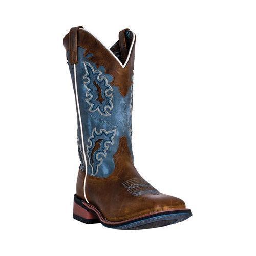 Women's Laredo Isla 5666 Tan Distressed Leather/Blue Denim Action PU