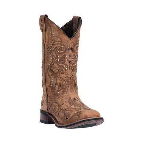 Women's Laredo Janie Cowgirl Boot 5643 Tan Leather