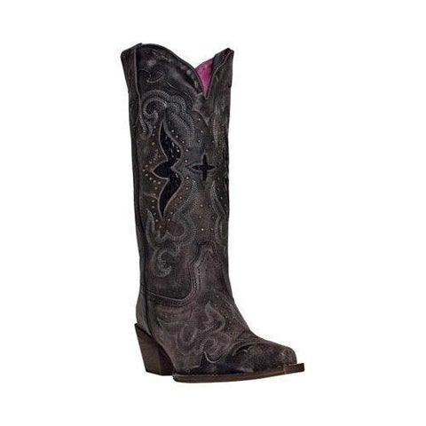 Women's Laredo Lucretia 52133 Black/Tan Leather