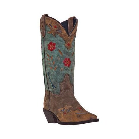 Women's Laredo Miss Kate 52138 Brown/Teal Leather
