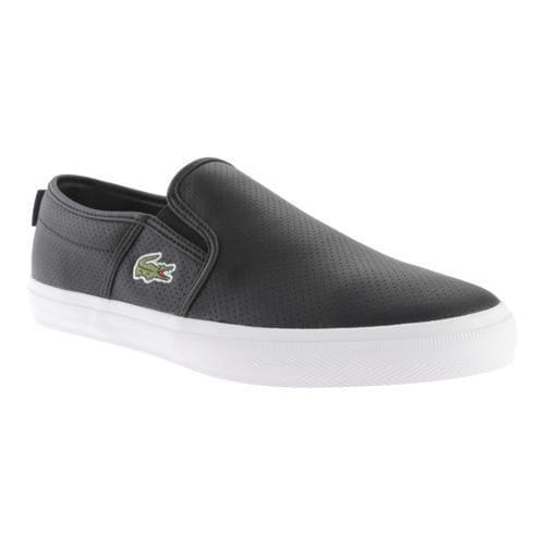 Men's Lacoste Gazon Sport TCL Black Leather