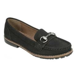 Women's White Mountain Augusta Loafer Black Smooth Synthetic