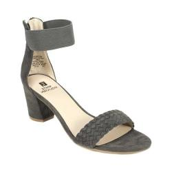 Women's White Mountain Eryn Ankle Strap Sandal Grey Suedette