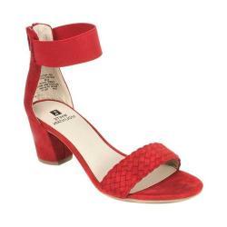Women's White Mountain Eryn Ankle Strap Sandal Rhubarb Suedette