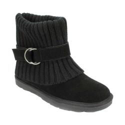 Women's White Mountain Narna Sweater Boot Black Suede