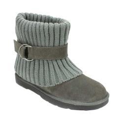 Women's White Mountain Narna Sweater Boot Grey Suede