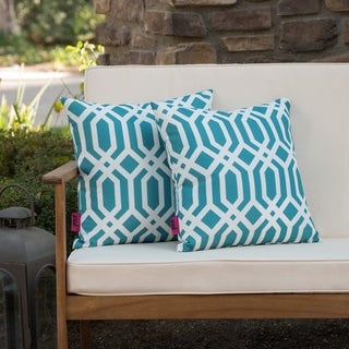 Manduka Outdoor Arabesque Pillow (Set of 2) by Christopher Knight Home