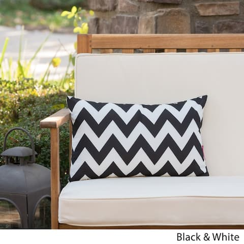 Marisol Outdoor Rectangle Chevron Pillow by Christopher Knight Home
