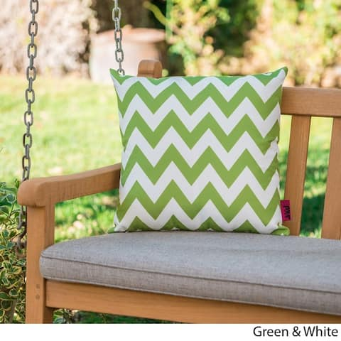Marisol Outdoor Square Chevron Pillow by Christopher Knight Home