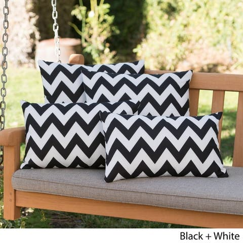 Marisol Outdoor Chevron Pillow (Set of 4) by Christopher Knight Home