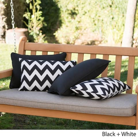 Marisol Outdoor Rectangle Pillow (Set of 4) by Christopher Knight Home