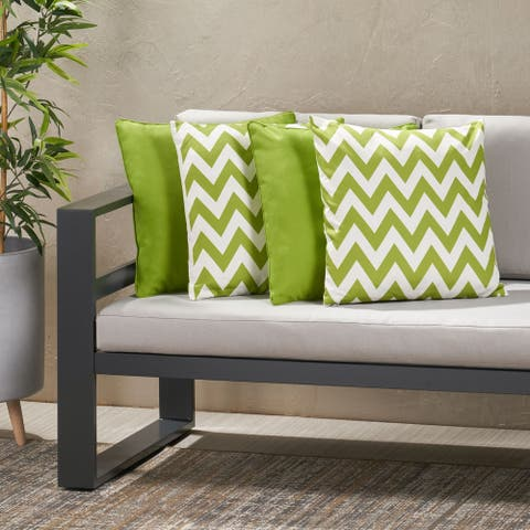 Marisol Outdoor Square Pillow (Set of 4) by Christopher Knight Home