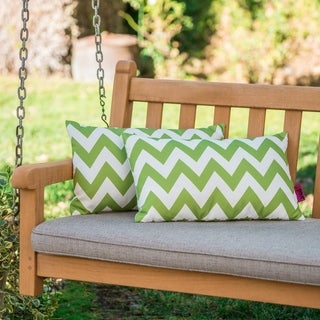 Link to Marisol Outdoor Chevron Pillow (Set of 2) by Christopher Knight Home Similar Items in Outdoor Cushions & Pillows