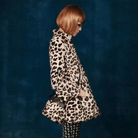 Plutus Luxury Faux Fur Cheetah Print Jacket