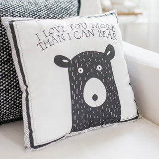 Little Black Bear Nursery Throw Pillow