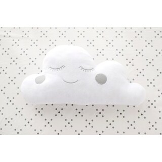 GrayCloud Nursery Throw Pillow