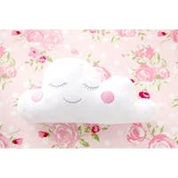 Pink Cloud Nursery Throw Pillow