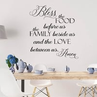 Bless the Food Before Vinyl Wall Decal