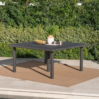 Fiona Outdoor 64-inch Square Wicker Dining Table by Christopher Knight Home