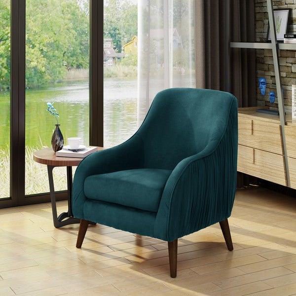 Shop Bertie Mid Century Modern Velvet Chair By Christopher