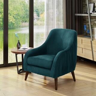 Bertie Mid Century Modern Velvet Chair by Christopher Knight Home