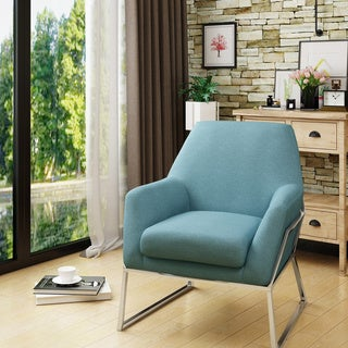 Zahara Modern Fabric Stainless Steel Chair by Christopher Knight Home