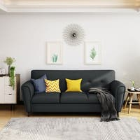 Emiliana Buttoned Fabric 3-seater Sofa by Christopher Knight Home