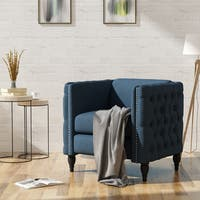 Alira Modern Tufted Fabric Arm Chair by Christopher Knight Home