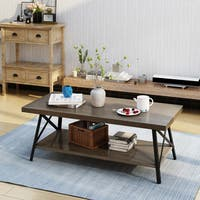 Camaran Industrial Wood Coffee Table by Christopher Knight Home