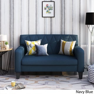 Maisie Button Stitch Fabric Loveseat by Christopher Knight Home