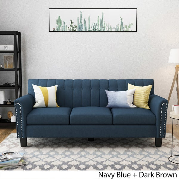 buy blue sofa online at overstock our best living room furniture rh overstock com navy blue couch living room ideas navy blue sofas for sale