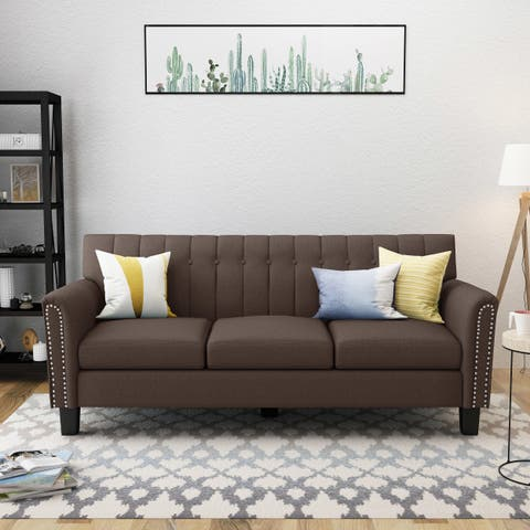 Jacopo Traditional Fabric 3-seater Sofa by Christopher Knight Home