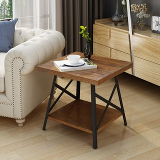 Camaran Industrial Wood End Table by Christopher Knight Home