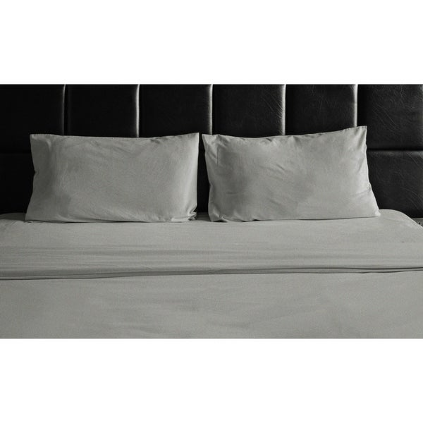Clara Clark 1800 Count 4 Piece Deep Pocket Cozy Linen Bed Sheet Set Twin White